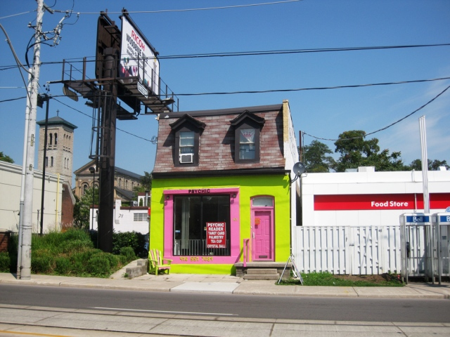 A Psychic's office on Parliament Street in Toronto