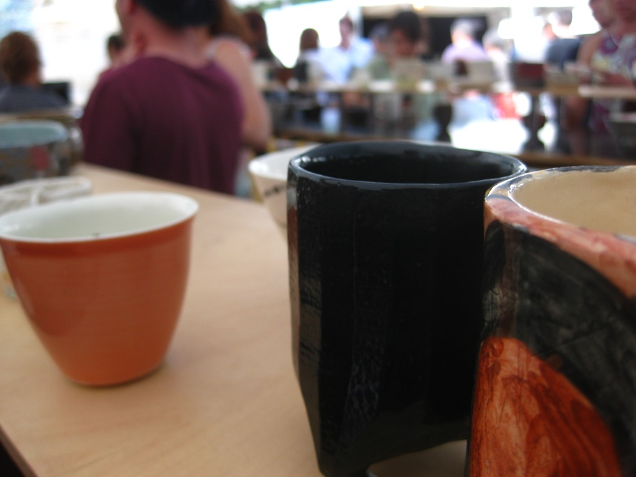 Cups at Saint Sulpice Ceramics Fair