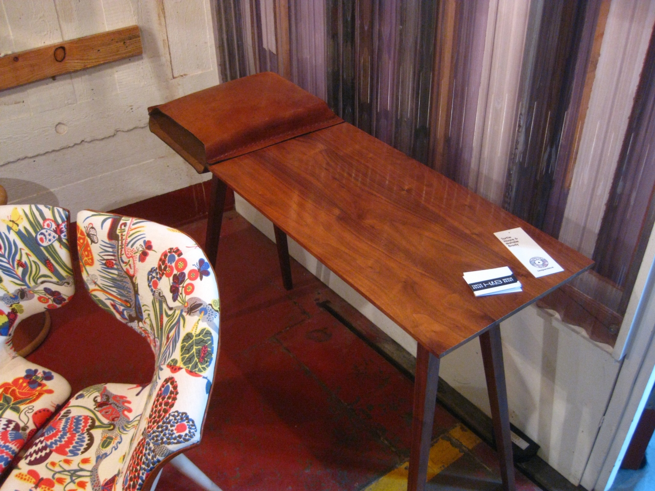 Tortie Hoare boiled leather & wood desk